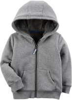 Carter's Baby Boy Gray Zip Fleece Hoodie