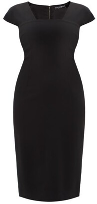 Dolce & Gabbana Cap-sleeve Cady-crepe Midi Dress - Black