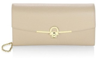 Salvatore Ferragamo Gancini Leather Wallet-On-Chain
