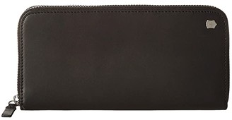 Victorinox Altius Edge Turing Zippered Deluxe Clutch Wallet w/ RFID (Black Leather) Bi-fold Wallet