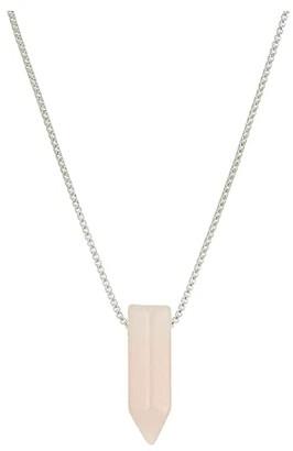 Alex and Ani 18 Rose Quartz Adjustable Necklace (Sterling Silver) Necklace