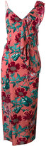 For Love And Lemons - asymmetric flamenco dress - women - Silk/Spandex/Elastane/Rayon - XS
