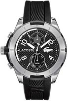 Lacoste Men's 2010759 Tonga Silver-Tone Watch with Black Band