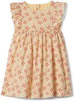 Gap Floral Ruffle Dress