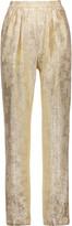 Stella McCartney Christine metallic silk-blend brocade tapered pants