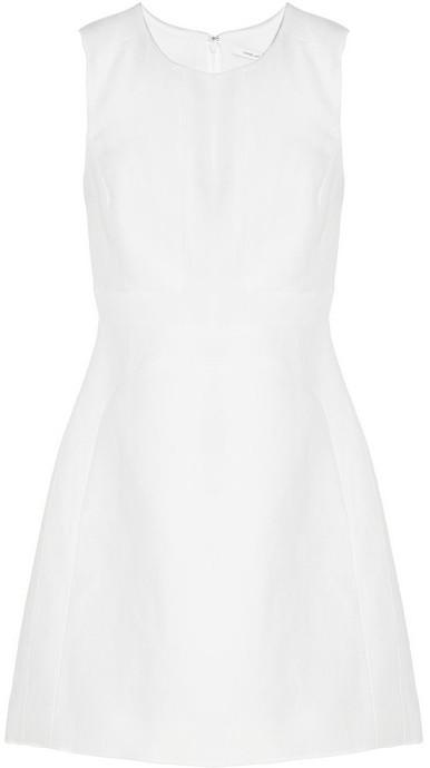 Diane von Furstenberg Margarina linen and cotton-blend canvas and crepe dress