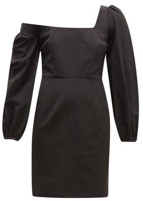 Racil Debbie Moire Mini Dress - Womens - Black