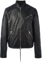 Diesel Black Gold zip up jacket - men - Lamb Skin/Polyester/Viscose - 46