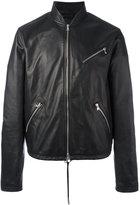 Diesel Black Gold zip up jacket - men - Lamb Skin/Viscose/Polyester - 46