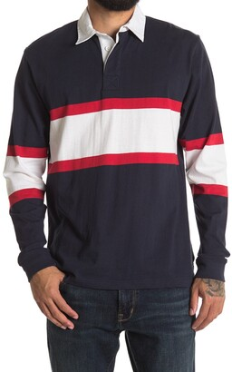 Burnside Rugby Stripe Long Sleeve Polo