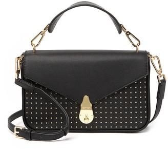 Calvin Klein Daytonna Studded Leather Top Handle Leather Satchel