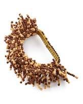 Kim Seybert Beaded Round Placemat, Carnival Napkin Ring, & Dip Dye Napkin