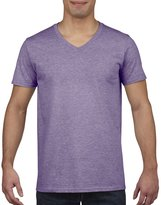 Gildan Mens Soft Style V-Neck Short Sleeve T-Shirt (M)