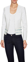 Ava & Aiden Cotton Pique Contrast Peplum Jacket