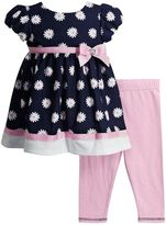 Youngland Baby Girl Floral Dress & Solid Leggings Set