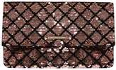 Dorothy Perkins Pink And Black Sequin Foldover Clutch