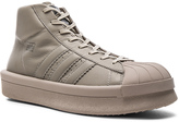 Rick Owens x Adidas Leather Pro Model Sneakers