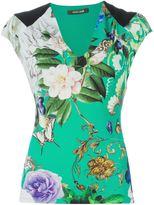 Roberto Cavalli V-neck printed top - women - Polyamide/Spandex/Elastane - 44