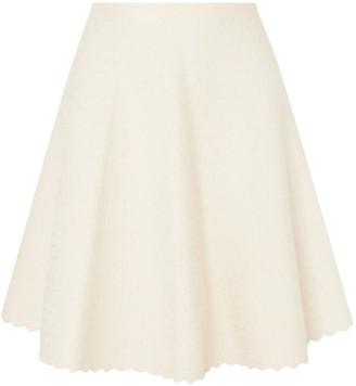 Alaia Scalloped Jacquard-knit Skirt