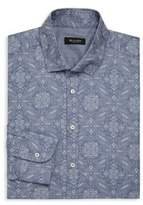 Sand Paisley Print Dress Shirt