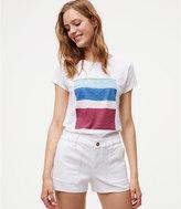 LOFT Denim Utility Shorts in White