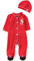 Little Me Baby Girls Newborn-9 Months My First Christmas Bear-Applique Footed Coverall