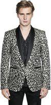 Just Cavalli Leopard Jacquard Wool Lurex Jacket