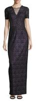 Theia Lace Sheath Dress