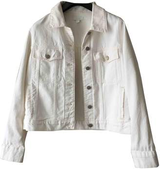 Cos White Cotton Jacket for Women