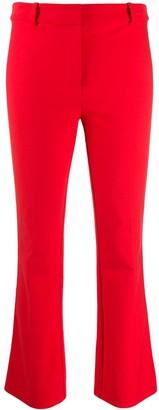 Derek Lam 10 Crosby Corinna Tuxedo Stripe Cropped Flare Crosby Cotton Twill Trouser