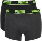 Puma Men's 2-Pack Trunks - Grey/Black