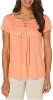 Rafaella Short Sleeve Babydoll Top