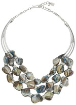 Robert Lee Morris Blue Shell Multi Row Necklace