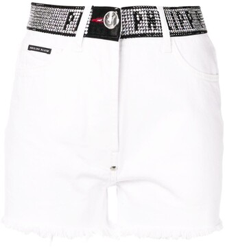 Philipp Plein Stud-Detail Denim Shorts