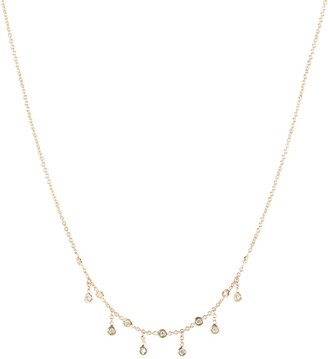 Jacquie Aiche Half Shaker 14kt gold and diamond necklace