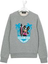 DSQUARED2 Surfing Beach sweatshirt - kids - Cotton - 14 yrs