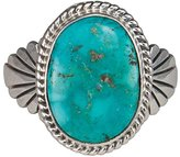Arthwick Store Navajo Native American Handcrafted Castle Dome Mine Turquoise and Sterling Silver Ring Size 12 by Wilson Padilla