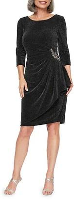 Alex Evenings Beaded Sheath Dress