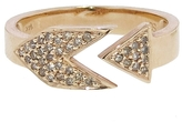 Sydney Evan Rose Gold Arrow Ring with Diamonds