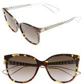 Christian Dior Women's Diorama 55Mm Cat Eye Sunglasses - Havana Pink/ Brown