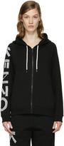 Kenzo Black Logo Sleeve Zip Hoodie