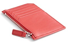 Royce New York Leather Zipper Credit Card Case