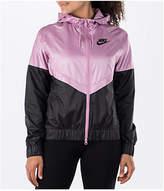 Nike Women's Sportswear Windrunner Jacket, Black/Purple
