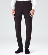 Starling T Textured Formal Trousers Burgundy