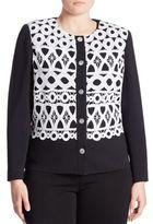 Stizzoli, Plus Size Crochet-Front Cardigan