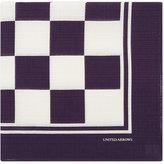 United Arrows Check Cotton Pocket Square