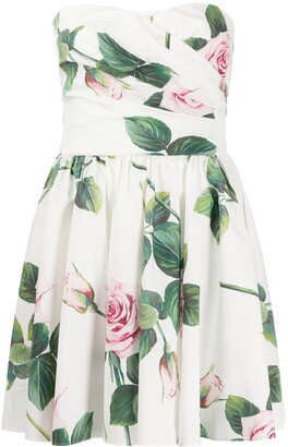 Dolce & Gabbana Tropical Rose print mini dress