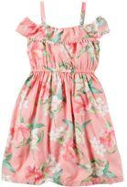 Carter's Toddler Girl Print Off-The-Shoulder Dress