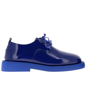 Marsèll Derby Gommello In Shiny Leather With Rubber Sole