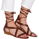 C. Wonder As Is Lace-up Leather Gladiator Sandals - Lyla
